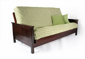 Tiro shown in Dark Cherry, mattress, cover and pillows not included